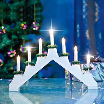 Новогодние светильники со свечами (горка)